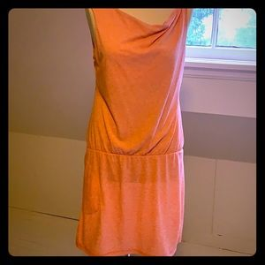Lole orange (light coral) tank dress with wicking